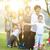 big group of asian multi generations family outdoors stock photo © szefei