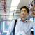 indian businessman inside train stock photo © szefei