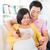 Asia · mujer · embarazada · medicina · casa · embarazadas · Pareja - foto stock © szefei