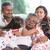 generazioni · indian · ritratto · di · famiglia · casa · di · famiglia · asian · persone - foto d'archivio © szefei