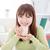 Asia · femenino · potable · retrato · feliz - foto stock © szefei
