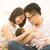 família · feliz · juntos · pais · pequeno · criança · pôr · do · sol - foto stock © szefei