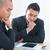 dwa · biznesmenów · posiedzenia · biuro · lobby · mówić - zdjęcia stock © szefei