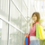 Asian female holding shopping bags stock photo © szefei