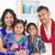 gelukkig · indian · familie · eengezinswoning · wonen · lifestyle - stockfoto © szefei