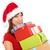 Asia · Navidad · mujer · regalo · dentro - foto stock © szefei