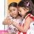 indiano · meninas · alimentação · dois · bonitinho · asiático - foto stock © szefei