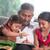 retrato · tradicional · indiano · família · pais · crianças - foto stock © szefei