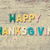 the colorful words happy thanksgiving stock photo © szefei