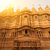 oude · zandsteen · fort · tempel · binnenkant · gouden - stockfoto © szefei