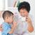 familie · drinken · melk · gelukkig · generaties · asian - stockfoto © szefei