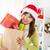 Noel · hediye · alışveriş · mutlu · Asya · kadın - stok fotoğraf © szefei