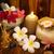 extérieur · spa · massage · coucher · du · soleil · chandelles · fleurs - photo stock © szefei