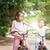 家族 · バイク · パス · 笑みを浮かべて · 笑顔 · 子 - ストックフォト © szefei