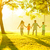 asian family holding hands running stock photo © szefei