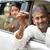 indian man showing his new car key stock photo © szefei