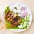 ázsiai · konyha · tyúk · grillezett · hús · felszolgált · földimogyoró · mártás - stock fotó © szefei