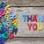 obrigado · colorido · palavras · cartas - foto stock © szefei