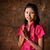 délkelet · ázsiai · nő · üdvözlet · hagyományos · kézmozdulat - stock fotó © szefei