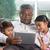 indio · familia · digital · ordenador · tableta · casa - foto stock © szefei