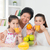 asian · familie · drinken · sinaasappelsap · gelukkig · grootvader - stockfoto © szefei