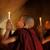 buddhista · imádkozik · kicsi · kezdő · elöl · gyertyafény - stock fotó © szefei