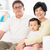 avós · sala · de · estar · bebê · sorridente · família · homem - foto stock © szefei