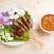 ázsiai · konyha · tyúk · közelkép · finom · fából · készült · étkezőasztal - stock fotó © szefei