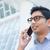 genç · Asya · adam · konuşma · cep · telefonu · iş · adamı - stok fotoğraf © szefei