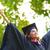 mezun · öğrenci · bakıyor · gelecek · portre · mutlu - stok fotoğraf © szefei