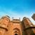 részletek · piros · erőd · építészeti · részlet · Delhi · India - stock fotó © szefei