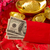 Chinese new year red envelope with dollars inside stock photo © szefei