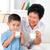 içmek · süt · birlikte · içme · mutlu · nesiller - stok fotoğraf © szefei