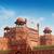 piros · erőd · kék · ég · Delhi · India · égbolt - stock fotó © szefei