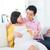 mujer · embarazada · auriculares · vientre · Asia · embarazadas · Pareja - foto stock © szefei