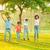 радостный · азиатских · семьи · прыжки · вместе · парка - Сток-фото © szefei