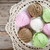 top view assorted ice cream on wood background stock photo © szefei