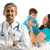 médico · médico · família · feliz · paciente · isolado · branco - foto stock © szefei