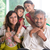 tradicional · Índia · retrato · de · família · indiano · pais · crianças - foto stock © szefei