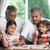 abuelo · jugando · nietos · casa · feliz · nino - foto stock © szefei