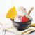 yogurt · helado · cuchara · tazón · gofre · blanco - foto stock © szefei