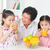 asian · kinderen · drinken · sinaasappelsap · familie · gelukkig - stockfoto © szefei