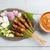 tyúk · ázsiai · stílus · földimogyoró · tányér · hús - stock fotó © szefei