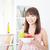 jovem · sorridente · menina · alimentação · uvas · olhando - foto stock © szefei