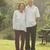 Asian seniors couple walking at outdoor park stock photo © szefei