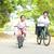 feliz · senior · mulher · equitação · bicicleta · verão - foto stock © szefei