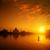 coucher · du · soleil · eau · paysage · orange · sunrise · rivière - photo stock © szefei