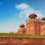 piros · erőd · Delhi · India · kilátás · égbolt - stock fotó © szefei