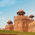 piros · erőd · Delhi · India · égbolt · világ - stock fotó © szefei