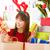 Noel · hediyeler · mutlu · Asya · kız · satın - stok fotoğraf © szefei